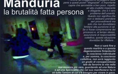 Manduria, la brutalità fatta persona
